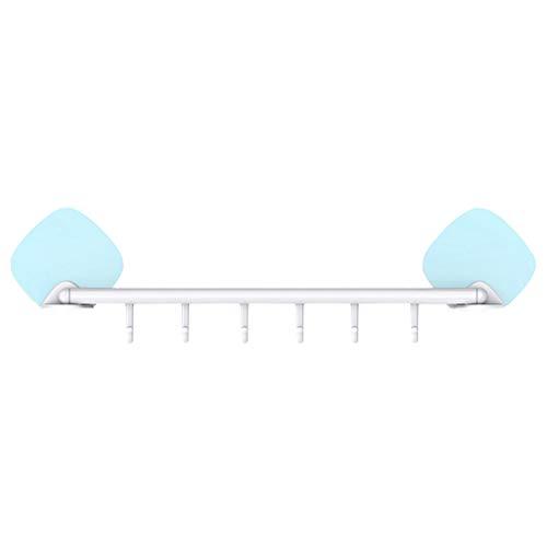 DEESEE(TM) Nahtlose starke selbstklebende Küche Badezimmer Wand Wasserdicht mit 6 Haken -
