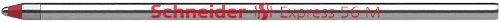 Schneider Express 56 M Kugelschreiber Mine (Edelstahlspitze, dokumentenecht) 20er Packung rot