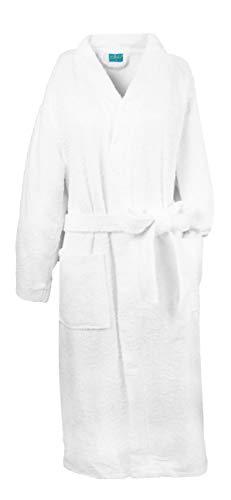 ZOLLNER Bademantel aus Baumwolle, XL (weitere verfügbare), Weiß, Kimonostil