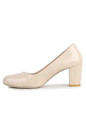 DEEANNE LONDON Women's Suede Block Heel Pump