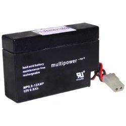 Preisvergleich Produktbild Multipower MP0.8–12 AMP Blei Akku Bleigel Vlies 12 V 800 mAh AMP kompatibel 96 x 25 x 52 mm
