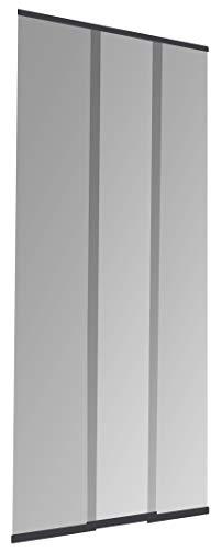 Windhager Insektenschutz PLUS Türvorhang Easy Lamellenvorhang Fliegengitter individuell kürzbar, 95 x 220 cm, anthrazit, 03781