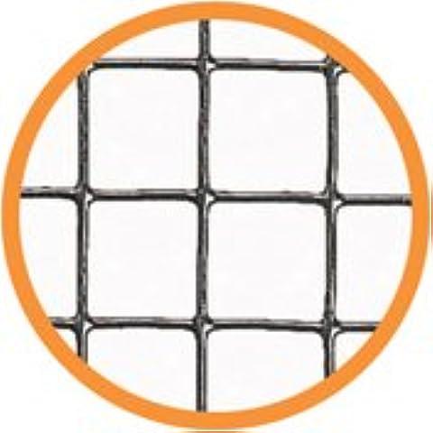 FLEXIMAS 1735100,9x 6m 6mm–Rete metallica saldata rotoli, colore: argento
