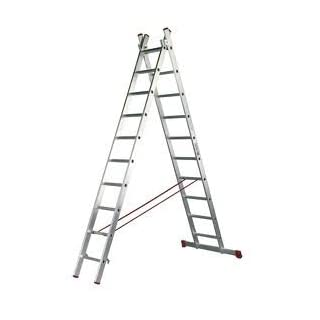 altipesa – Stairs Alum. 2 tranches 09 Rungs.