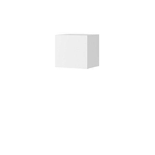 Mirjan24  Wandregal BR07, Hängeregal Hängeschrank, Grifflose Öffnen, Farbauswahl, Wohnzimmer, Schrank (Weiß/Weiß Hochglanz)