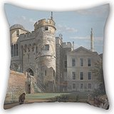 Throw Cushion Covers Of Oil Painting Paul Sandby - The Norman Gate And Deputy Governor's House 18 X 18 Inches / 45 By 45 Cm,best Fit For Bar Seat,office,play Room,teens Boys,floor,gf Twice Sides