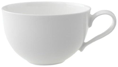 Villeroy & Boch New Cottage Basic Cappuccinotasse, 390 ml, Höhe: 7 cm, Premium Porzellan, Weiß