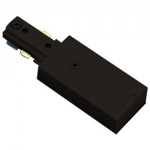 Halo Single Circuit Track Live End Feed Connector - Black