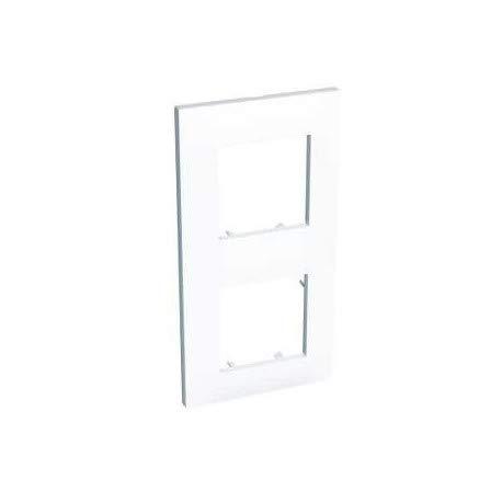 plaque schneider electric altira - 2 postes - entraxe 57 mm - blanc polaire - verticale