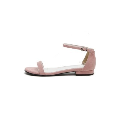XY&GKFrau Sommer in Rom All-Match Sommer Sandalen Sandalen mit einem Flachbild Original minimalistisch Sandalen, komfortabel und schön 34 Pink