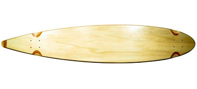 Blank Longboard Deck natural pintail 47.75 x 9