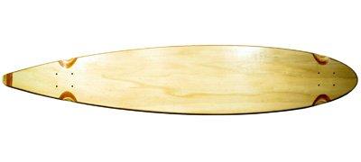 Blank Longboard Deck natural pintail 47.75 x 9 (Deck Pintail Longboard)