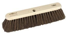 Hill Brush Platform Broom Head Filled With Bahia Mixture - excellent on concrete or tarmac paths and road in wet or dry… 1