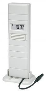 Technoline TX25 Außen-Sensor mit Messsonde Sender Pool-Teich-Thermometer (weiß mit Batterien)