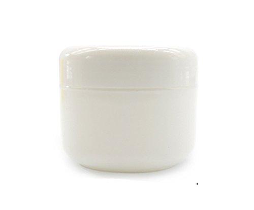 10pcs pots de cosmétiques vides en plastique vides avec couvercles pour crèmes / échantillons de maquillage / maquillage / paillettes, 50g / 50ml (Blanc)