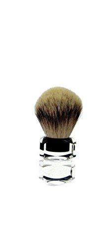 Golddachs Blaireau, 100%, acrylique Manche de transparente, rasage Argenté