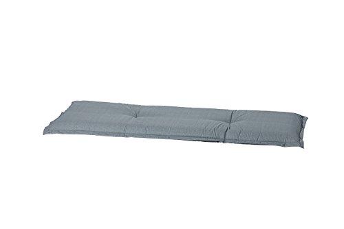 Madison Auflage Bank 50% Baumwolle/50% Polyester, L Basic, grau, 120 x 48 cm