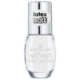 Essence effect nail polish latex matt, vernis à ongles de couleur n°37 the white bunny !, 10 ml, 0.33 fl.oz