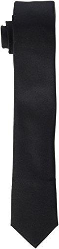 Seidensticker Herren Krawatte Schmal, Schwarz (Schwarz 39), 5 cm Breit (Krawatte Schwarze Seide)