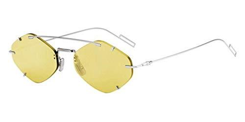 Christian Dior Herren Sonnenbrille Silber gelb 57