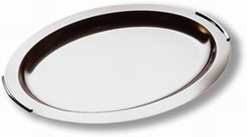 "Preisvergleich Produktbild 1x Tablett ""Finesse"",  oval,  aus Edelstahl,  Serviertablett"