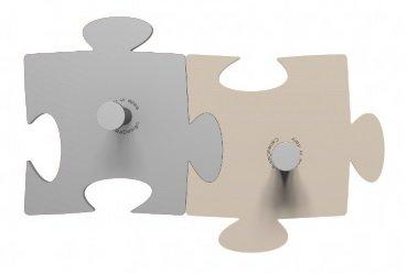 CalleaDeasign Porte-Manteau Mural Design Puzzle 2 éléments Aluminium – sabbbia
