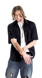 Imagen de paper magic laced up stitches arm sleeves accessory disfraz