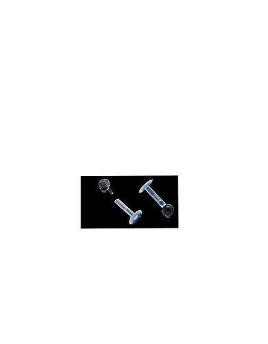 16G chiara Retainer Bioflex con 3mm con retro piatto dritto Pop-In Ball (cartilagine, trago, Labret, Monroe, Labbra,) (1pezzo) 16G (1,2mm)