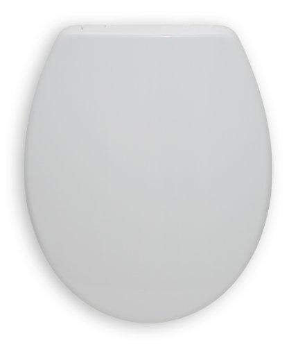 Preisvergleich Produktbild WC-Sitz San Sebastian weiß | Toilettensitz | WC-Brille aus Duroplast-Kunststoff | Mit Active-Clean-Beschichtung | Edelstahl-Scharnier | Fast-Fix-Schnellbefestigung  | Take-Off