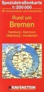 Rund um Bremen: Hamburg, Hannover, Oldenburg, Osnabrück. Spezialstrassenkarte mit Ortsverzeichnis. 1:200000