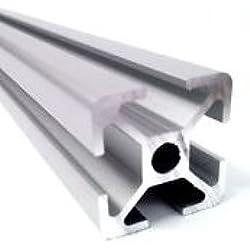 qfix robotics - Perfil de varilla de aluminio (20 x 20 mm, 1000 mm, anodizado natural)