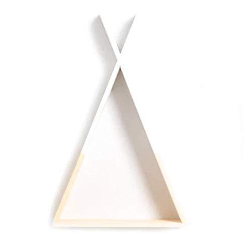 Made in Joyland Tipi - Estantería de Madera Blanca para Colgar en la Pared, en Forma de Tipi, para Decorar habitación Infantil (Blanco)