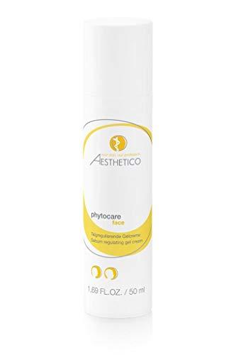 AESTHETICO phytocare - 50 ml - Gelcreme für Misch- und fettende Haut, talgregulierend und klärend, feuchtigkeitsspendend und beruhigend -