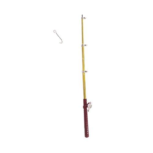Homyl Miniatur Angel Angelrute für 1:12 Puppenhaus Garten Zubehör Deko - Länge: 11cm
