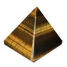 Healing Crystals India Natural Tiger Eye USUI 20-30mm Pyramid Feng Shui Spiritual Reiki Healing Energy Charged Pyramid Free ebook about Crystal Healing by Healing Crystals India