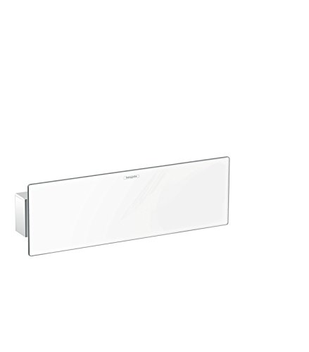 hansgrohe FixFit Schlauchanschluss, 300 mm, mit Brausehalter und Duschablage, weiß/chrom