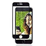 Protezione Schermo per iPhone 7 Plus (Bordo Nero) 3D Copertura Totale da SWISS-QA, Miglior Vetro Temperato Anti Graffio, Trasparenza 99%, Perfetto Per Tutte Le Cover iPhone -soddisfatti o