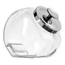 Penny Candy Jar mit Chrom Cover 1/2 Gallon glas Anchor Hocking Candy