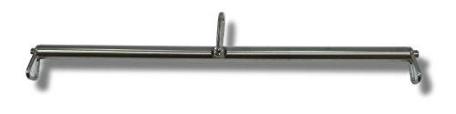 Bondage BDSM Hängestange 30 mm Durchmesser aus Edelstahl mit Schäkel und Karabinerhaken (50 cm) -