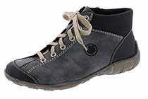 Rieker M3731 Damen Boots, Schnürstiefel, Schnür-Boots, Stiefel Blau (ozean/ozean/pazifik/14), EU 37
