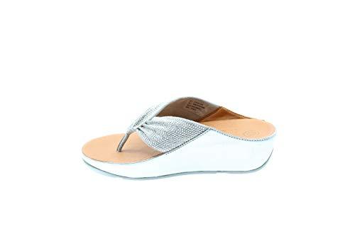 FitFlopTM Twiss Crystal Womens Toe Post Sandals 3 UK/ 36 EU Silber -