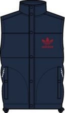 adidas Herren Weste AC Padded Vest X51845 XXL Blau