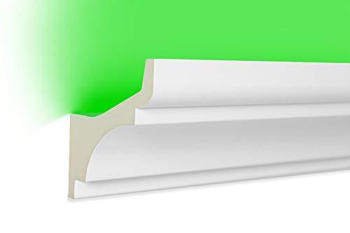 10 Meter | LED Profil | indirekte Beleuchtung | Stuck | lichtundurchlässig | stoßfest | Leiste | wetterbeständig | 80x80mm | LED-2