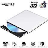 External Blu Ray CD DVD Drive 3D 4K, Portable USB 3.0 Bluray CD