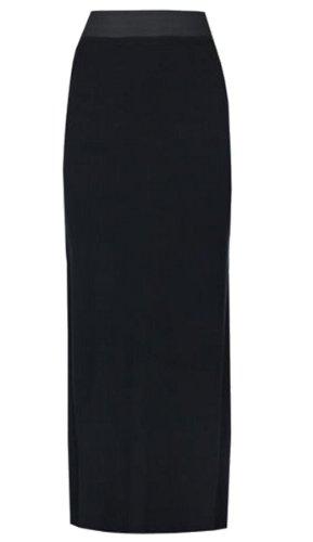 Frauen Plus Größe Lange Jersey Boho Maxiröcke 36-54 Black
