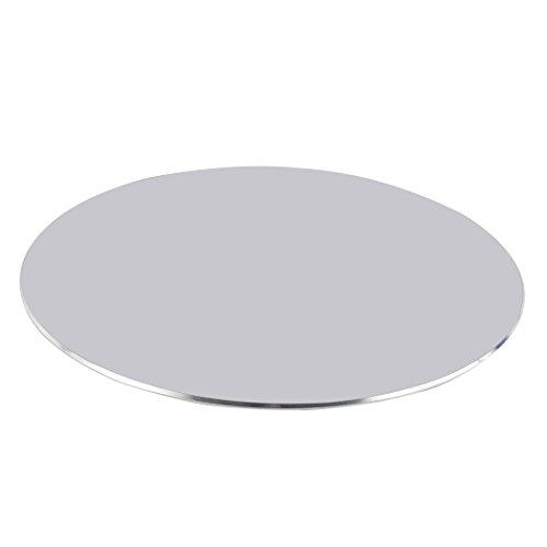 Zoohot Aluminiumspiel-Mausunterlage Mit rutschfester Gummibasis, Runde Mausunterlage des Büros (Silber)