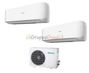 CLIMATIZADOR DUAL HISENSE INVERTER MINI APPLE PIE 7000 + 7000 + AMW2 – 16U4SGD1 7 + 7