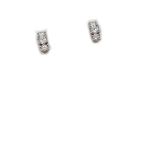 Miluna - Orecchini trilogy Miluna in oro bianco 18 kt carati e diamanti