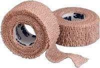 Benda elastica Coban 3M auto-aderente, color cuoio, 2,5cm di larghezza x 4,5m di lunghezza, confezione da 1