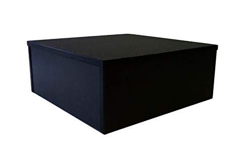 Office-podest (Ladeneinrichtung Warenträger Sockel Podest Schwarz (L: 50cm, H: 50cm, T: 20cm))